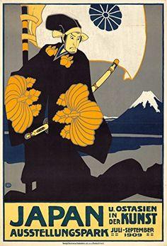 Japan Vintage Poster artist Graf Oskar Germany c 1909 24x36 Giclee Gallery Print Wall Decor Travel Poster