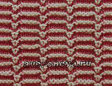 узор 494 полосатый с ажуром   каталог вязаных спицами узоров