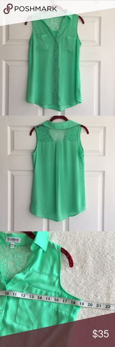 Express - Green Polyster Nylon Tops Excellent condition Express Tops