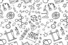Doodle pattern chemistry by Netkoff on @creativemarket
