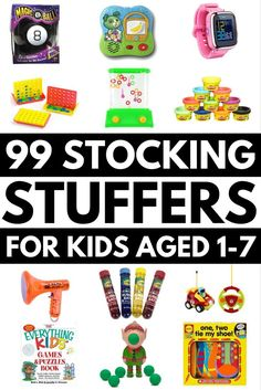 Looking for the perfect stocking stuffers for kids? We've got 99 of the best ideas all wrapped up into one list to make your Christmas shopping easier. Whether you're looking for gifts for boys or girls, need cheap and inexpensive ideas o Christmas Gifts For Kids, Christmas Shopping, Xmas Gifts, Christmas Time, Christmas Budget, Santa Gifts, Christmas Things, Holiday Fun, Christmas Decor