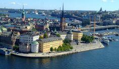 Imagen aérea de Gamla Stan, Estocolmo, Suecia www.viajerodelahistoria.com
