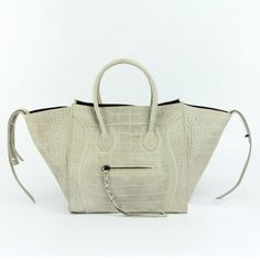 CELINE CROC PHANTOM LUGGAGE BAG WHITE