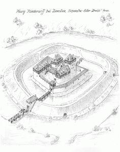 niederurff Fantasy Town, Fantasy Castle, Fantasy Map, Medieval Fantasy, Chateau Medieval, Medieval Town, Medieval Castle, Castle Drawing, Small Castles
