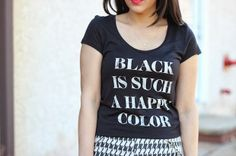 A Love Affair With Fashion : Black Is Such A Happy Color