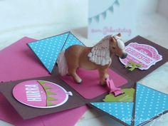 Explosionsbox, Motto Pony, Stampin´UP!, Geburtstag, Gutschein, Kindergeburtstag, individuelle Papeterie, Sandra Kolb www.samey-atelierfarbstil.blogspot.de