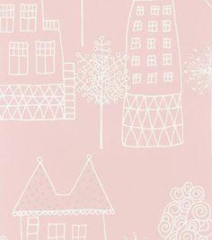 Sandberg - Kaspar Pink Kids Wallpaper
