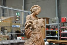 Lovely Terracotta statue by Goossens from 1870 in good condition. Discover more beautiful items from Christophe Prouveur's collection, a professional Belgian antique dealer, on Transferantique. All In One, Terracotta, Statues, Antiques, Beautiful, Collection, Things To Sell, Antiquities, Antique