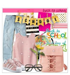 """""""Go Back-to-School Shopping!"""" by enigma-93 ❤ liked on Polyvore featuring Kate Spade, Sharpie, Charlotte Russe, Hollister Co., Banana Republic, adidas Originals and ZeroUV"""