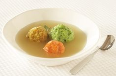 Tricolor Matzo Ball Soup for Passover