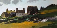 Capel y Rhiw - Donald McIntyre Pastel, Golf Courses, Landscape, Gallery, Welsh, Cornwall, 2d, Homes, Paintings