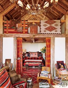 Film director Joel Schumacher wanted a rustic look with modern comforts for his California retreat.