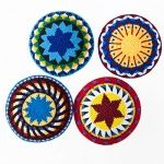 """MayaWorks 6"""" colorful kippot - the kippa of preference in my family!"""