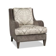 Sam Moore Carney Club Chair Finish: Java, Upholstery: 2702 Dove