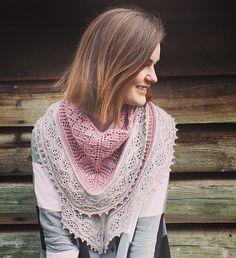 Morning Trail shawl, sportweight knitting pattern