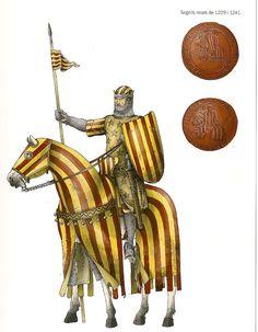 Crown of Aragon Segells reials de 1229-1241