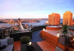 Stunning Sydney view from roof top garden