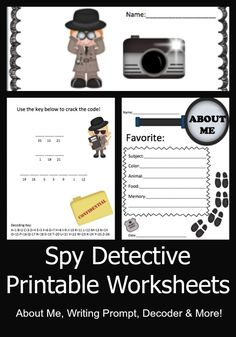 Create this Spy themed Time Capsule during the back to school season and open it at the end of the year! Investigate and let your students become spies!