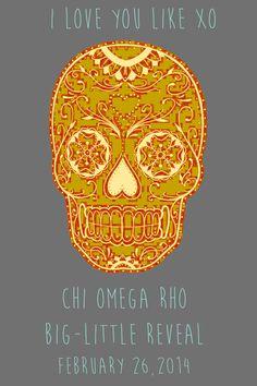 Chi omega big little reveal poster