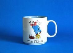 Papel Mr Fix-It Cartoon Mug  Jim Benton Handyman Dad by FunkyKoala