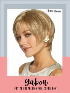 Perfection Wig.... With added length in the crown and all-over expertly tapered layering, this sleek short shag is loaded with sex appeal. Personal Fit Cap Features. #hairstyles #hairdo #hairoftheday #styleinspo #styles Short Thin Hair, Short Hair Styles, Short Hairstyles For Women, Hairstyles Haircuts, Gabor Wigs, Hair Photo, Synthetic Hair, Hair Lengths, Hair Pins