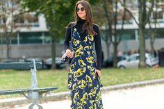Maxi dress + turtleneck