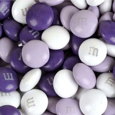 Purple, Lavender & White M&M's Chocolate Candy - perfect for weddings and parties