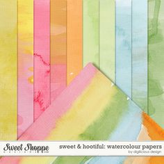 Quality DigiScrap Freebies: Sweet & Hootful: Watercolour Papers freebie from Digilicious Design