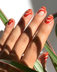 17 Gorgeous Red Nail Design Ideas You Need to Try - - Make your nails pop with these hot red nail designs that command attention and look amazing. Pink Nail Art, Cute Acrylic Nails, Pop Art Nails, Hair And Nails, My Nails, Red Tip Nails, Emoji Nails, Jamberry Nails, Nail Design Glitter