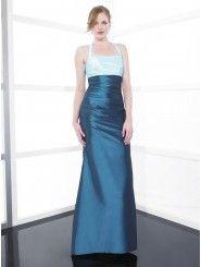 Taffeta Halter Soft Sweetheart Floor-Length Bridesmaid Dress