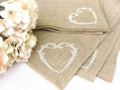 Rustic Burlap Table Topper Wedding Table Square by HotCocoaDesign