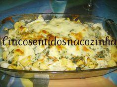 Cinco sentidos na cozinha: Bacalhau delicioso com espinafres