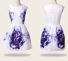 The new printing sleeveless vest dress XS43013RE