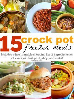 Make 15 Freezer Croc