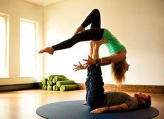 beautiful partner yoga