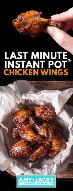 instant pot recipes easy Make this Super Easy BBQ Instant Pot Chicken Wings! Finger-licking delicious pressure cooker wings ready in 35 mins. Awesome last-minute pa Crock Pot Recipes, Beef Recipes, Healthy Recipes, Noodle Recipes, Sausage Recipes, Copycat Recipes, Grilling Recipes, Vegetable Recipes, Soup Recipes