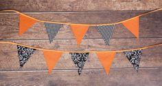 Halloween fabric banners, bunting, garland, atumn,
