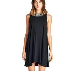 ⚘SALE⚘⭐NEW! Chic Black Swing Mini Dress Contemporary Style   Swing Mini Dress Black 96% Polyester  4% Spandex  High Quality (not see through) Boutique  Made in U.S.A True To Size NWOT Directly From Vendor  *Necklace not included   ▪ Price is Firm ▪ No Trades ▪ Fast Shipping IT Ragazza  Dresses Mini
