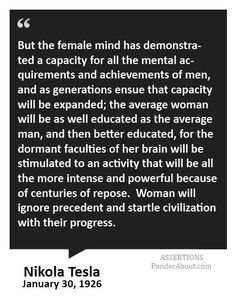 ON  women Nicola Tesla