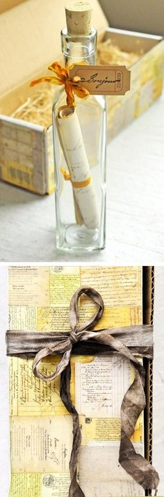 This message in a bottle idea is perfect for bridesmaids gifts or invitations and save-the-dates. Click the pic for our super simple DIY tutorial!