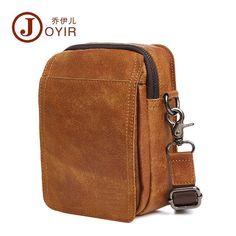 Vintage Men Real Leather Travel Small Messenger Shoulder Bag Sling Crossbody Bag #Unbranded #TravelBag
