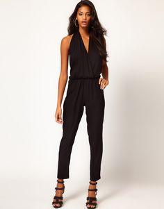 Black Halter Jumpsuit.