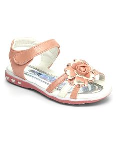 Pink Floral Swirl Sandal
