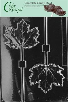 Cybrtrayd F081 Large Maple Leaf Lolly Chocolate Candy Mold with Exclusive Cybrtrayd Copyrighted Chocolate Molding Instructions -- Read more at the affiliate link Amazon.com on image.