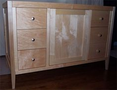 Website Photo Gallery Examples Shaker Style Bathroom Vanity with one centered door and drawers