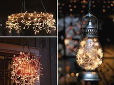 DIY Outdoor Lighting Ideas by Interiorholic. This would be really cool to do with solar lights