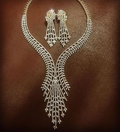 This 100% handmade necklace for all brides is ...  #brides #handmade #loosediamonds #necklace