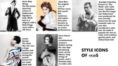 style icons of 1920s
