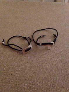 To søde armbånd i sølv og sort nylonsnor :-) Sort, Hoop Earrings, Bracelets, Jewelry, Jewlery, Jewerly, Schmuck, Jewels, Jewelery