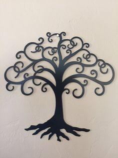Swirly Tree of Life Metal Wall Art Decor